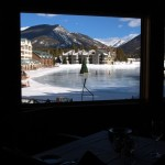 View from steakhouse in Keystone, Colorado