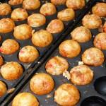 Takoyaki balls in Osaka