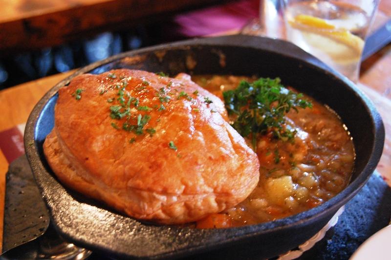very Irish dish: Steak and Guinness Pie