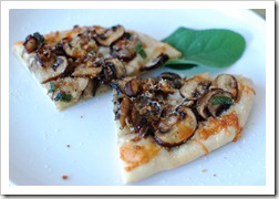mushroom pizza