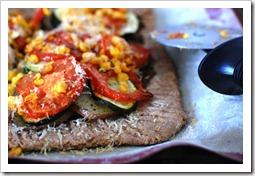veggie tart closeup