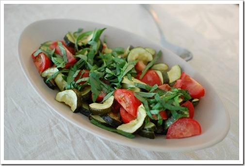 Corgette Tomato Salad